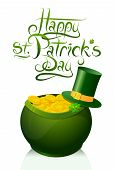 Saint Patricks Day greeting card design