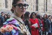 People Outside Gabriele Colangelo Fashion Show Building For Milan Women's Fashion Week 2015
