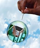 Housing Market Bubble Burst Concept