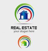 picture of swirly  - House and swirly logo House and swirly logo - JPG