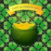 Saint Patrick Day Greeting Card Design