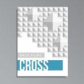 Modern Geometrical Cover Template,mosaic Square Cross Pattern
