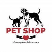 stock photo of petting  - Pet shop logo - JPG
