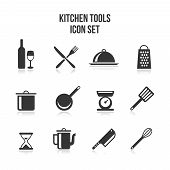 picture of knife  - Set of kitchen and cooking icons - JPG