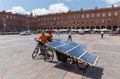 Beatrice And Yannick On Their Solar Bikes