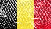 Flag Of Belgium With Old Texture. Vector