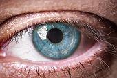 Human eye.