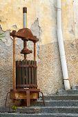 Antique olive press.