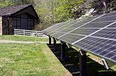 Solar Energy Panels Behind Building
