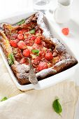 Franch Pudding In A Baking Dish
