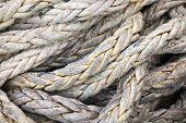 Dark Gray Nautical Rope, Background Texture