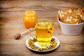 Chamomile - camomile tea is served