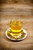 Glass of chamomile tea