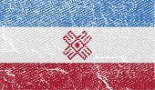 Flag Of Mari El With Old Texture. Vector