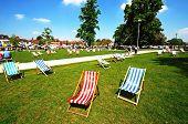 Deckchairs in the park, Stratford-upon-Avon.