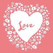Lovely Card. Heart.