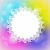 Colorful Blurred Abstract Vector Background with Star Shaped White Place in Center