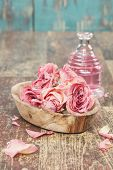 Aromatherapy rose massage oil