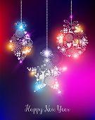 Happy New Year 2015 Elegant Lights Card