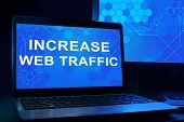 Computer with words increase web traffic.