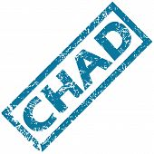 stock photo of chad  - Chad grunge rubber stamp on a white background - JPG