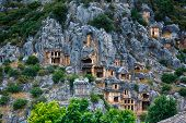image of burial  - Ancient burial place of Myra in Turkey - JPG