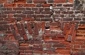 Texture Of Old Red Brick Wall
