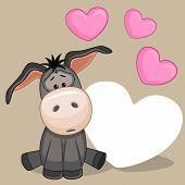 Donkey With Hearts