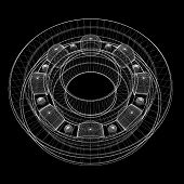 foto of ball bearing  - steel ball roller bearings - JPG