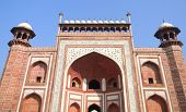 picture of india gate  - Decorated main gate portal to the Taj Mahal site in Agra - JPG