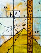 picture of illuminati  - Real Contemporary Painting on Canvas about Hieroglyphs and Pyramids - JPG