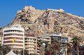 foto of costa blanca  - Santa Barbara Castle located on Mount Benacantilo Alicante - JPG