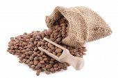 Burlap Bag With Lentils