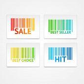 image of barcode  - Vector illustration barcode sale labels - JPG