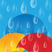 picture of raindrops  - Colorful umbrellas and raindrops - JPG