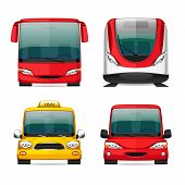 image of bus driver  - Colorful Transportation Icons for Your Delivery and Travel Projects - JPG