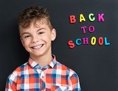 picture of schoolboys  - Back to school concept - JPG