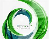 foto of slogan  - swirl line abstract background - JPG