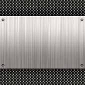 Fibra de carbono de aluminio cepillado