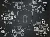 stock photo of keyhole  - Privacy concept - JPG