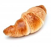 picture of crescent  - Croissant or  crescent roll isolated on white background cutout - JPG