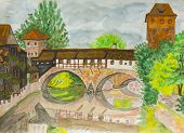 image of sm  - Hand painted picture watercolours  - JPG