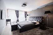 image of mansion  - Interior of exclusive bedroom in luxury mansion