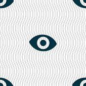 stock photo of senses  - sixth sense the eye icon sign - JPG