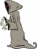 foto of halloween characters  - Cartoon Illustration of Funny Ghost or Phantom Halloween Character - JPG