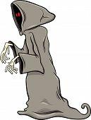 image of funny ghost  - Cartoon Illustration of Funny Ghost or Phantom Halloween Character - JPG