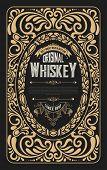 Old frame label design for Whiskey and Wine label, Restaurant, Beer label.  poster