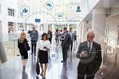 Business Men And Women Using Digital Technology poster