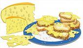 Sandwiches und Käse