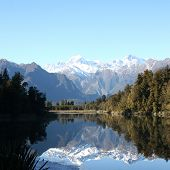 foto of wild west  - Beautiful Lake Matheson in New Zealand - JPG